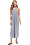 Halter Maxi Dress with Shirring
