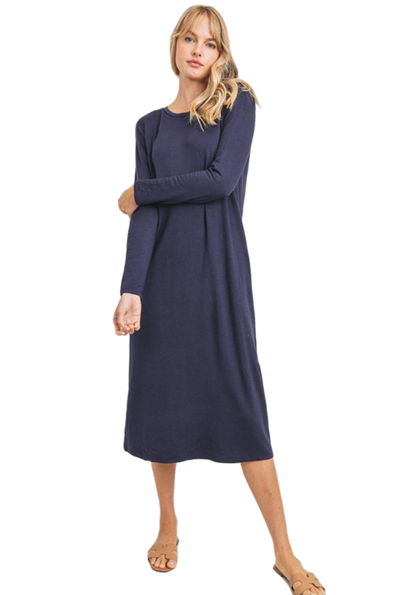 Semi Fitted Jersey Midi Dress