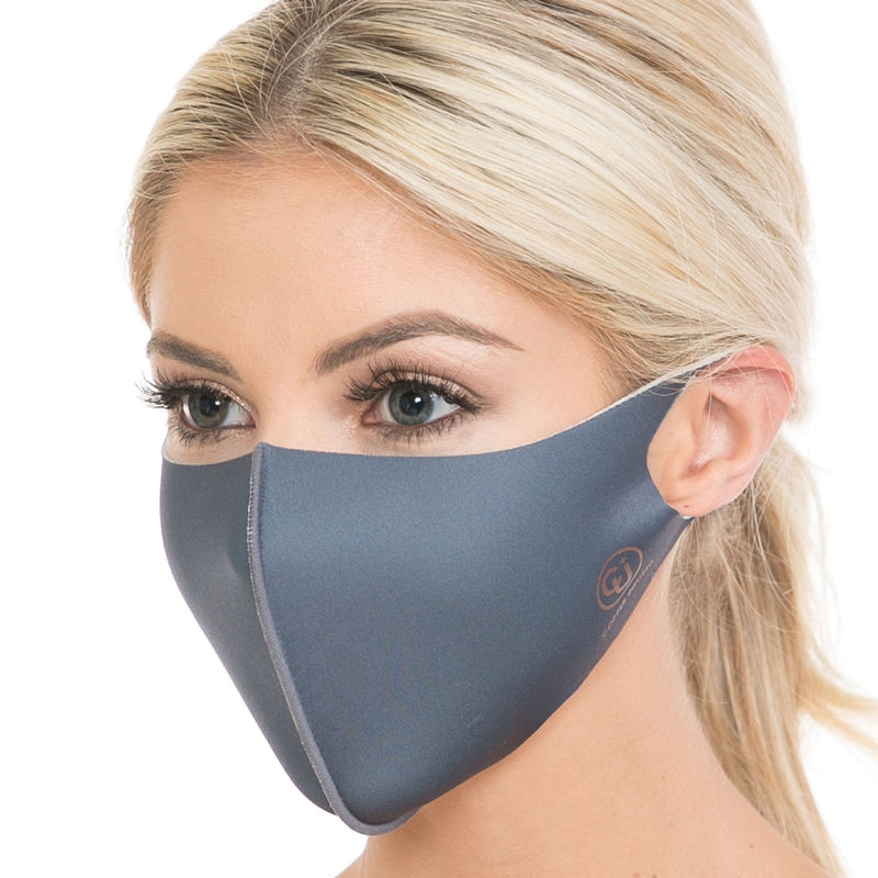 Copper Infused Face Mask - Charcoal (L/XL)