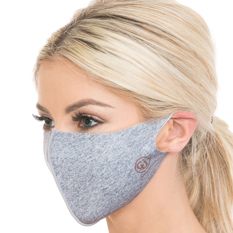 Copper Infused Face Mask - Heather Grey (L/XL)
