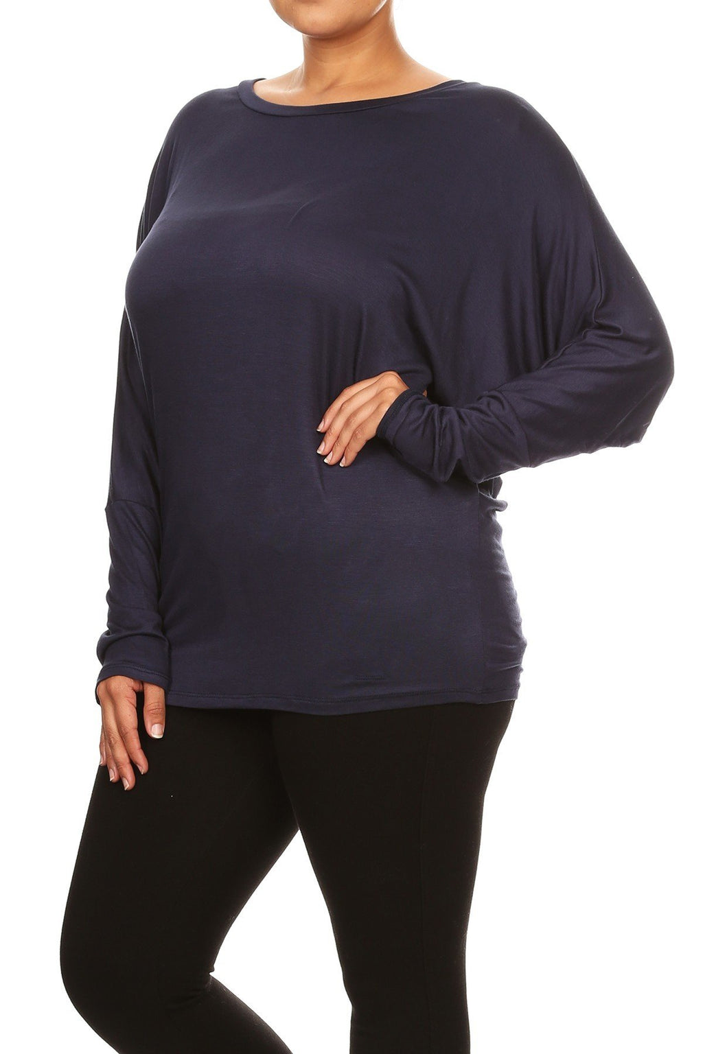 Jersey Knit Dolman Top Plus Size