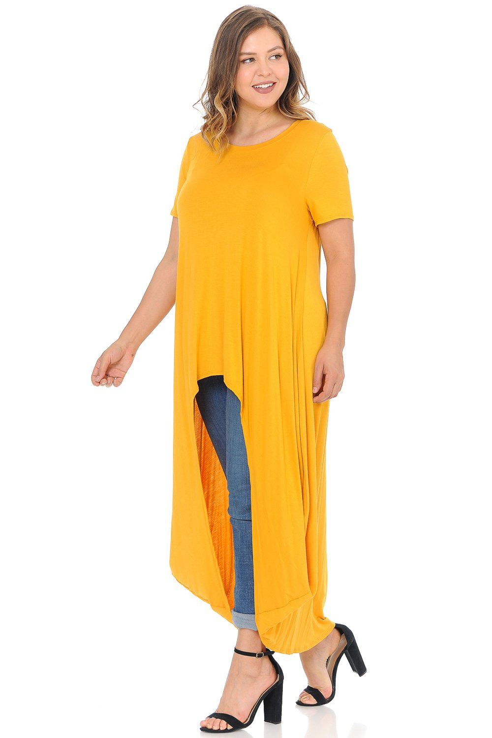 High-Low Maxi Top Plus Size