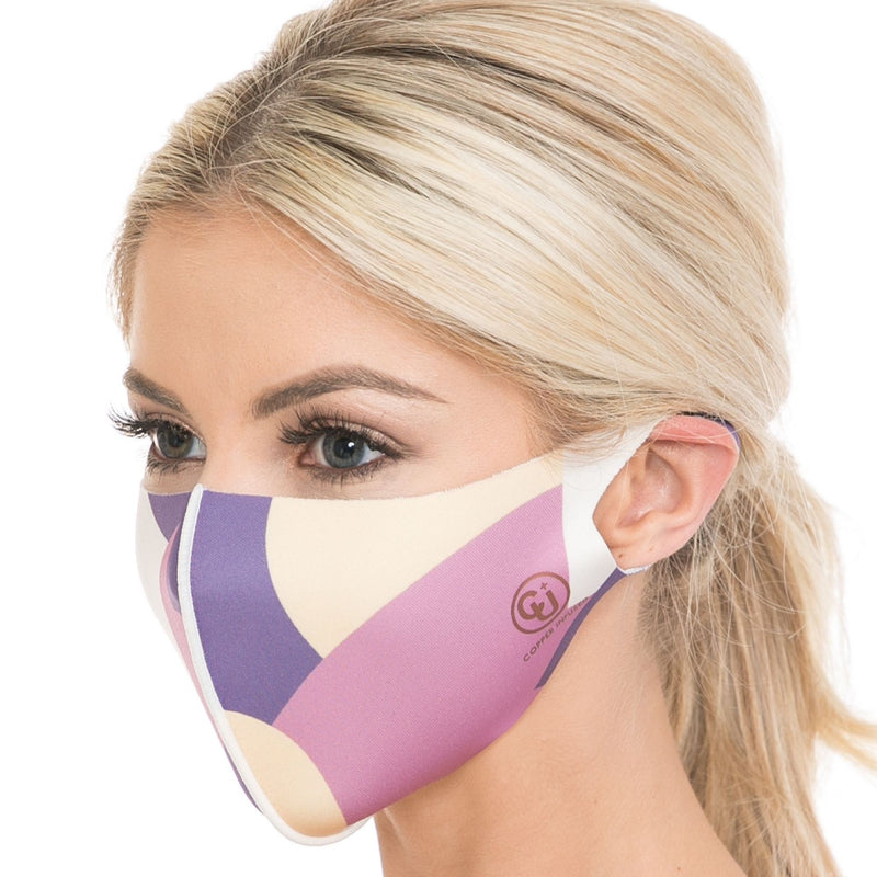 Copper Infused Face Mask - Print Purple (S/M)