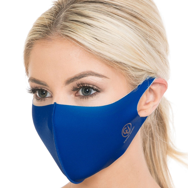 Copper Infused Face Mask - Royal Blue (S/M)