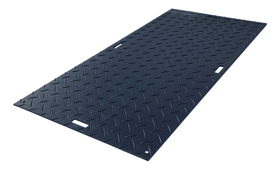 Black Ground Protection Mats 4'x8'