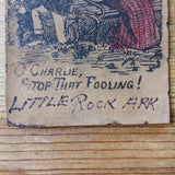 Antique Leather Comedy Postcard featuring Licking Cow early 1900s