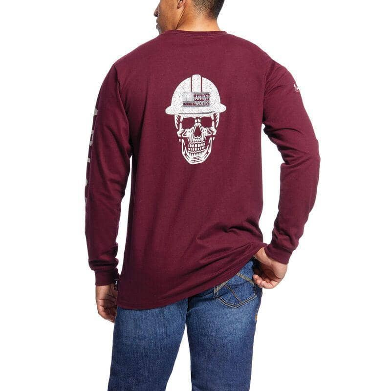ARIAT - FR Roughneck Skull Logo T-Shirt, Malbec - Becker Safety and Supply
