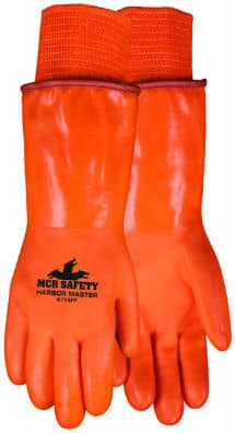 MCR SAFETY - Harbor Master Double Dipped PVC Foam and Polar Fleece Lined 14in, Orange