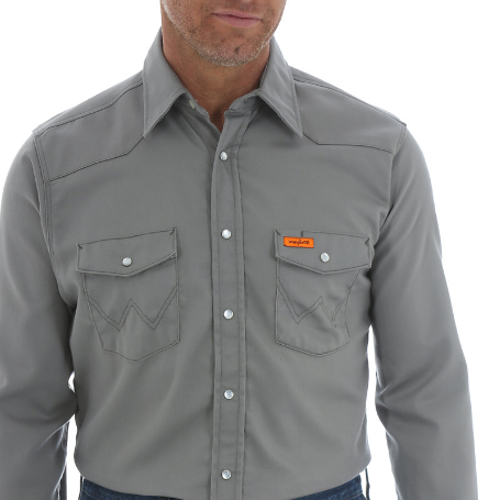 WRANGLER - FR Lightweight Charcoal Shirt - 6.5oz - Snap