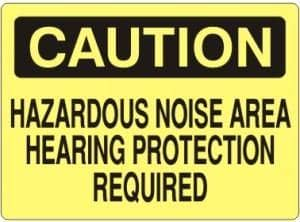 SAFEHOUSE SIGNS - C - 371524 Hearing Protection required VINYL 7x10 - Becker Safety and Supply