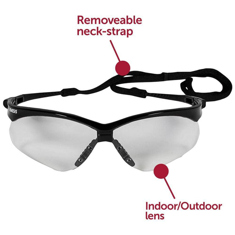 JACKSON SAFETY - V30 Nemesis Safety Eyewear, Indoor Outdoor/Black