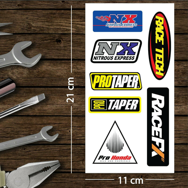 Assorted Motorcycle Bike Racing Decal Stickers Set Pack H