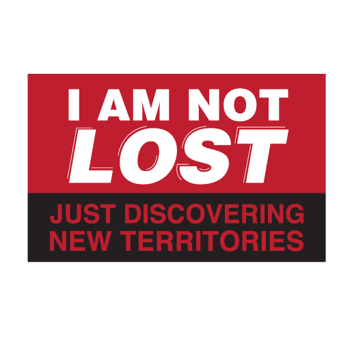 I Am Not Lost Stickers-0