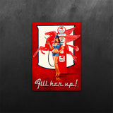 Mobil Gas PinUp Girl Sticker