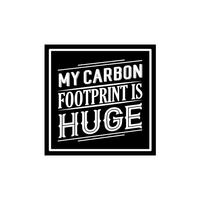 My Carbon Footprint is Hug Sticker-0