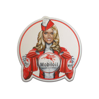 Mobil Oil PinUp Girl Sticker