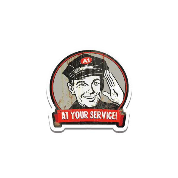 At Your Service1 Sticker