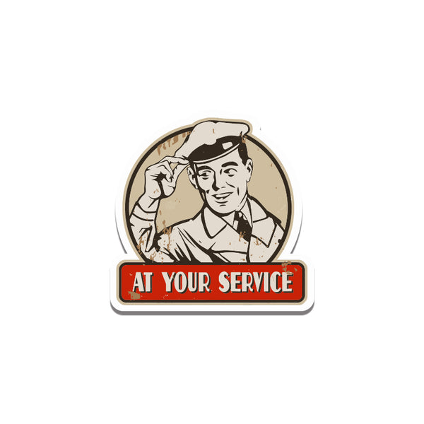 At Your Service2 Sticker