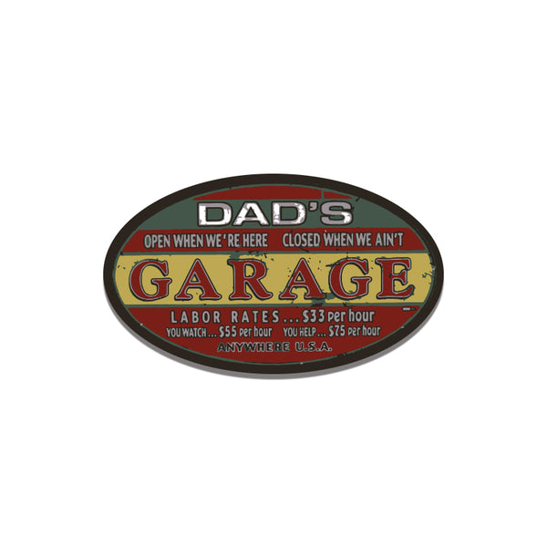 Dads Garage1 Sticker