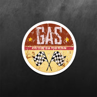 Gas Open 24 Hours Sticker