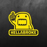 Domo Hellabroke Sticker