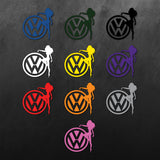 VW Lady Girl Sticker