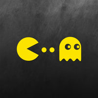 Pacman and Ghost Sticker