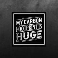 My Carbon Footprint is Hug Sticker