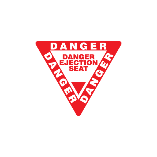 Danger Ejection Seat Sticker-0