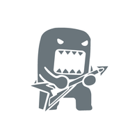 Domo Guitar Sticker-0