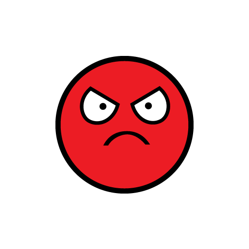 JDM Emoticon Angry Sticker-0