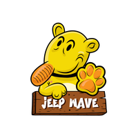 Eugene The Jeep Wave Sticker-0