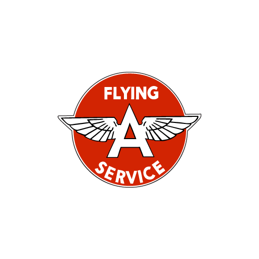 Flying A Service Oil Sticker-0