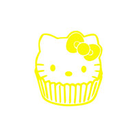 Hello Kitty Cupscake Sticker-0