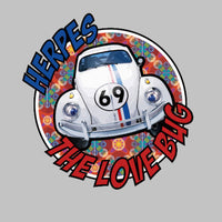 Herbie Herpes The Love Bug VW Bettle Parody 69 Decal Sticker-0
