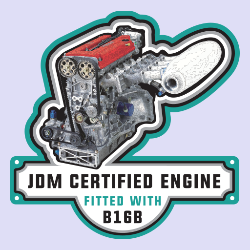 Honda Civic B16B Engine JDM Sticker-0