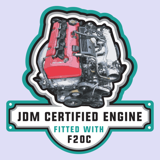 Honda F20c Engine JDM Sticker-0