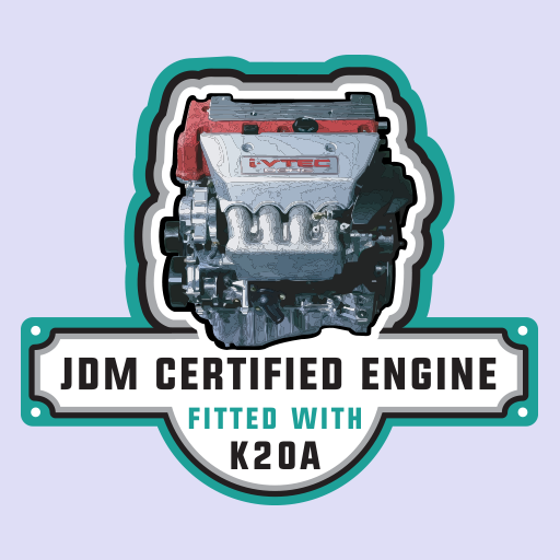 Honda Civic Integra Accord K20A Engine JDM Sticker-0