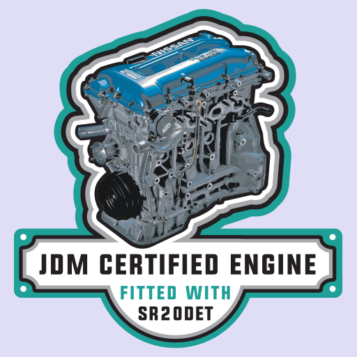 Nissan SR20DET Engine JDM Sticker-0