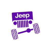 Jeep Face Front View Sticker-0