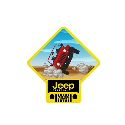 Jeep Official Recovery Vehicle Sticker-0