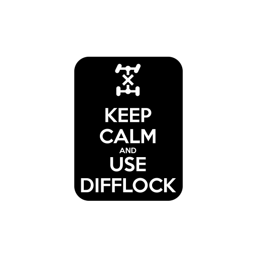 Keep Calm Use Diff Lock Sticker-0