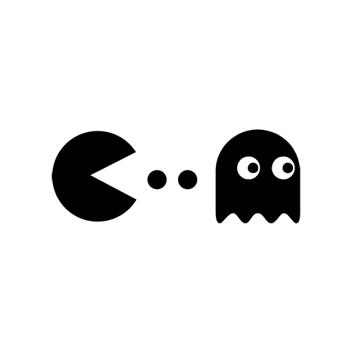 Pacman and Ghost Sticker-0