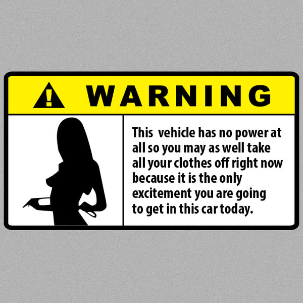 Warning Girl Sticker-0