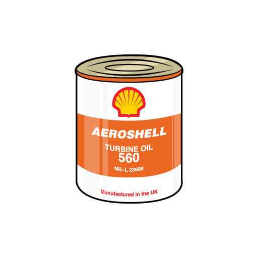 Aero Shell Oil Sticker-0