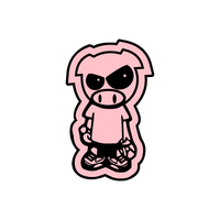 Subaru Pig Boy Sticker-0