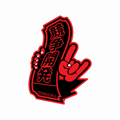 JDM Tengoku Hand Metal Sticker-0