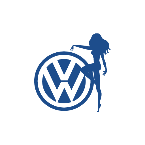 VW Lady Girl Sticker-0