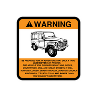 Warning True Land Rover Sticker