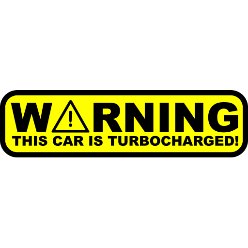 Warning This Car Is Turbocharged Sticker-0